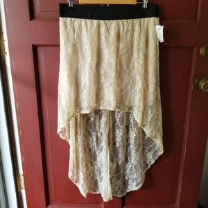 Hi Low lace skirt with elastic waistband
